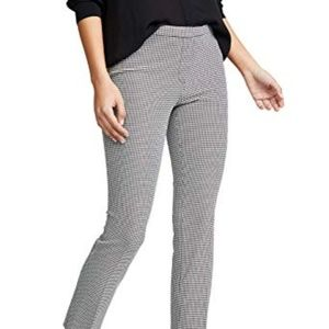 Theory Houndstooth Clever Pant 6 Cropped grey
